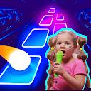 بازی  دیانا و رومی - کاشی هاپ خنده دار بچه ها