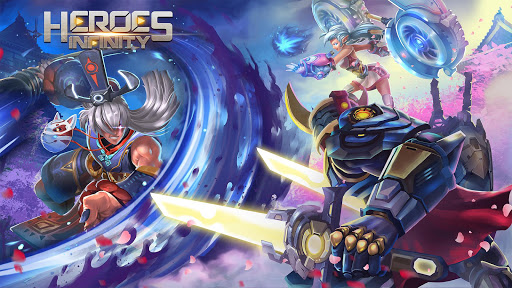بازی اندروید قهرمانان ابدیت - Heroes Infinity: God Warriors -Action RPG Strategy