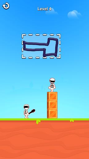 بازی اندروید رسم سه بعدی قهرمان - بازی پازل نقاشی - Draw Hero 3D: Drawing Puzzle Game