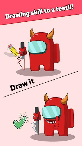 بازی اندروید رسم معما - یک قسمت را بکشید - Draw Puzzle - Draw one part