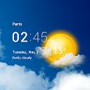 ساعت و هواشناسی شفاف