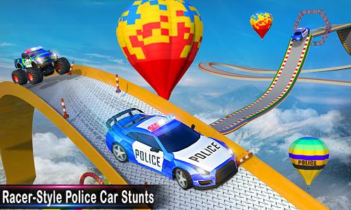 بازی اندروید سطح شیب دار ماشین پلیس - مسابقه مانع ماشین - Police Ramp Car Stunts GT Racing Car Stunts Game