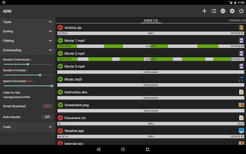 نرم افزار اندروید ادونس دانلود منیجر - Advanced Download Manager