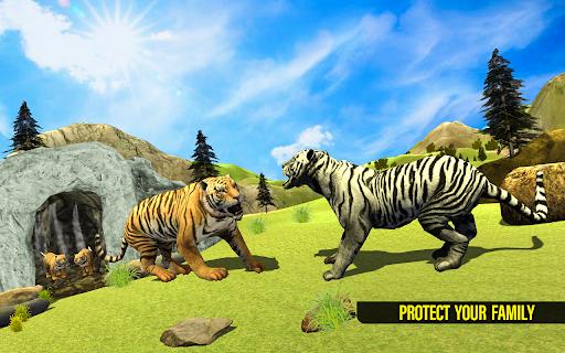 نرم افزار اندروید شبیه ساز واقعی خانواده ببر - بازی جهان حیوانات - Real Tiger Family Sim 3D: Wild Animals Games 2021