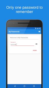 نرم افزار اندروید رمز عبور من - My Passwords