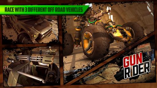 بازی اندروید تفنگ راننده - مسابقه تیراندازی - Gun Rider - Racing Shooter