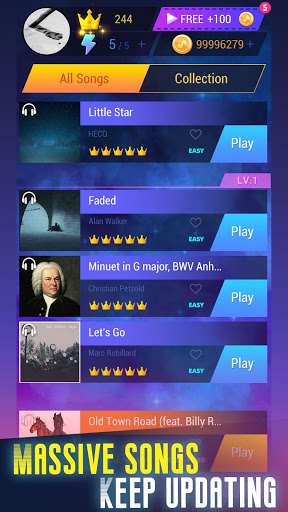 بازی اندروید روی موسیقی ضربه بزنید - Tap Music 3D