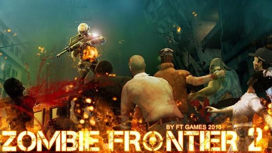 بازی اندروید خط مقدم زامبی 2 - بقا - Zombie Frontier 2:Survive