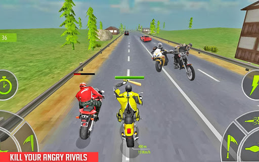 بازی اندروید حمله موتور سیکلت - Crazy Bike attack Racing New: motorcycle racing