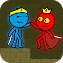 استیکمن قرمز و آبی - انیمیشن پارکور