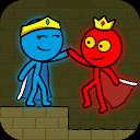 بازی استیکمن قرمز و آبی - انیمیشن پارکور
