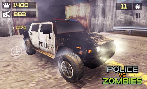 بازی اندروید ماشین پلیس زامبی کش - POLICE vs ZOMBIES 3D