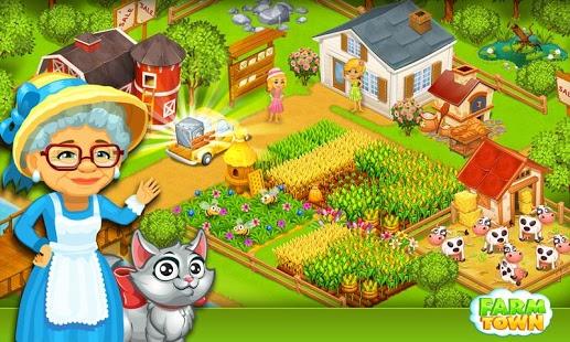 بازی اندروید مزرعه شهر - داستان شهر شادی - Farm Town:Happy City Day Story