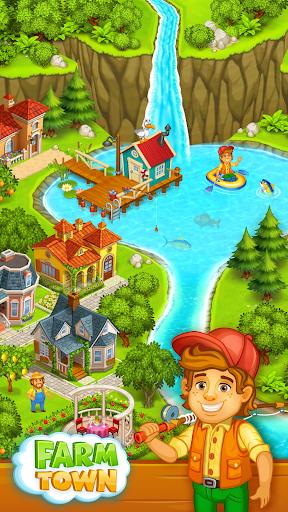بازی اندروید شهر مزرعه - روستایی در نزدیکی شهر - Farm Town: Happy village near small city and town