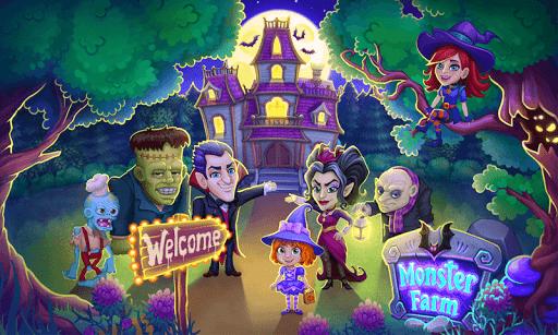 بازی اندروید مزرعه هیولا - هالووین مبارک روستای شبح - Monster Farm: Happy Halloween Game & Ghost Village
