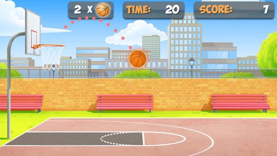 بازی اندروید پرتاب بسکتبال - Free Throw Basketball