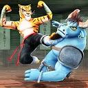 بازی مبارزه کونگ فو حیوانات - مبارز وحشی کاراته