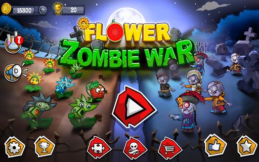بازی اندروید جنگ گل زامبی - Flower Zombie War