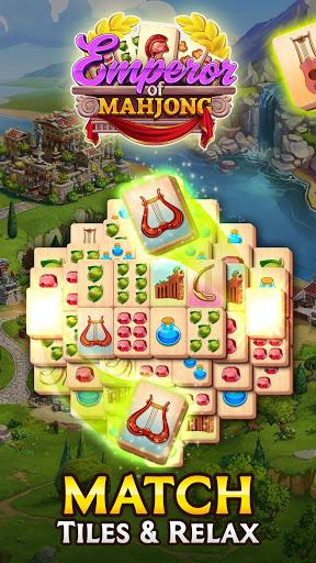 بازی اندروید امپراتور فال ماهجونگ بازی کنید - یک شهر را بازیابی کنید - Emperor of Mahjong: Match tiles & restore a city