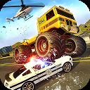 بازی تعقیب اتومبیل هیولا پلیس - راننده فرار پلیس