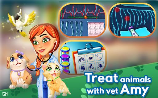 بازی اندروید کلینیک دکتر امی - Dr. Cares - Amy's Pet Clinic 🐈 🐕