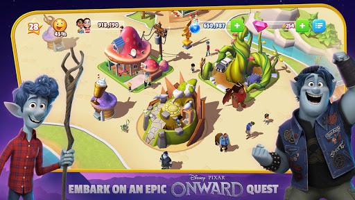 بازی اندروید پادشاهی سحر و جادو دیزنی: پارک جادویی خود را بسازید - Disney Magic Kingdoms: Build Your Own Magical Park