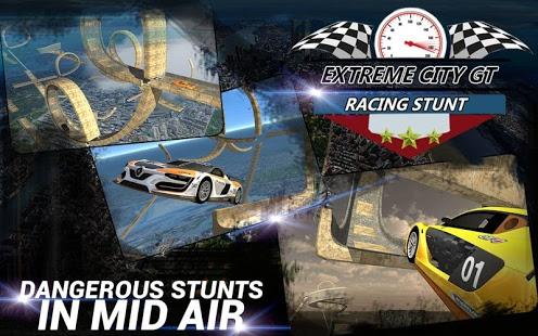 بازی اندروید مسابقات بدلکاری ماشین - Extreme City GT Racing Stunts