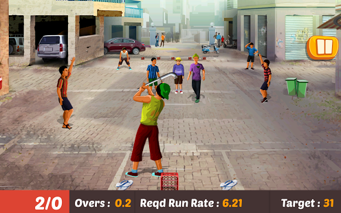 بازی اندروید کریکت 2016 - Gully Cricket Game - 2016