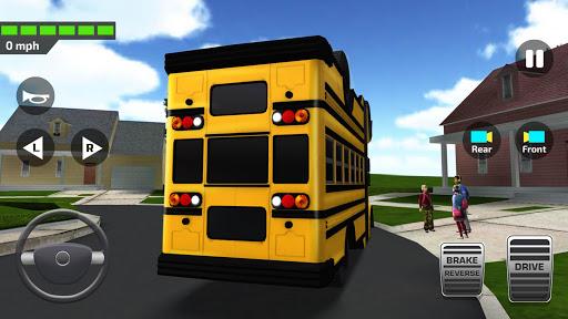 بازی اندروید راننده اتوبوس مدرسه 2018 - Super High School Bus Driving Simulator 3D - 2018