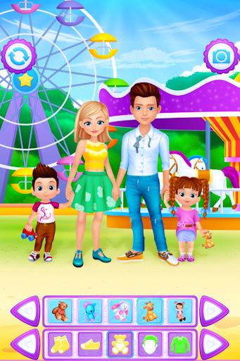 بازی اندروید انتخاب لباس خانواده - Family Dress Up