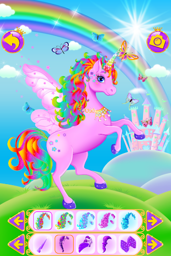 بازی اندروید لباس تک شاخ - بازی های دخترانه - Unicorn Dress Up - Girls Games