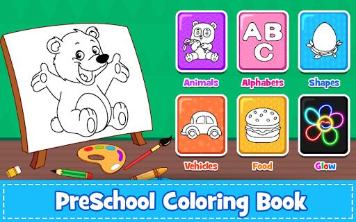 بازی اندروید کتاب رنگ آمیزی بچه ها - Coloring Games : PreSchool Coloring Book for kids