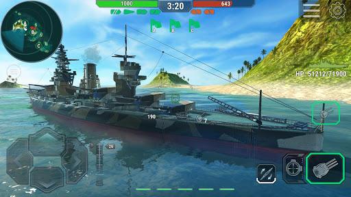 بازی اندروید کشتی جنگی جهانی - نبرد دریایی - Warships Universe: Naval Battle