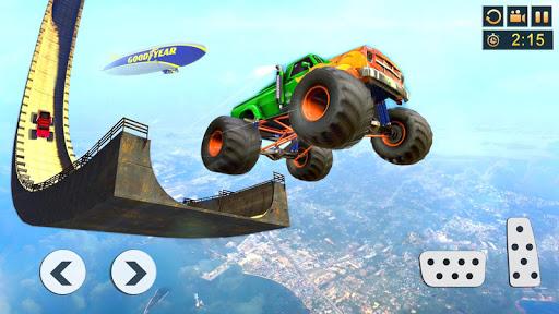 بازی اندروید رانندگی وانت های هیولا - Monster Truck Stunt Driving Games: Truck Simulator