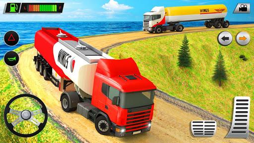 نرم افزار اندروید راننده تانکر حمل و نقل کوهستانی - Offroad Oil Tanker Transport Truck Driver 2020