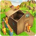 ساحت کلبه جنگلی - ساختن ساختمان