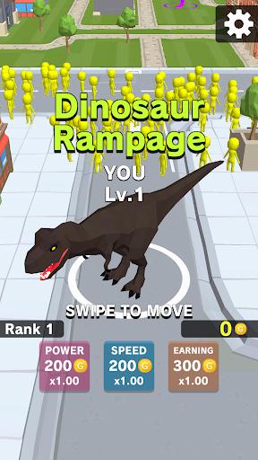 بازی اندروید خشم دایناسور - Dinosaur Rampage