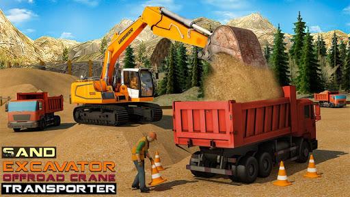بازی اندروید حمل و نقل جرثقیل آفرود - Sand Excavator Offroad Crane Transporter