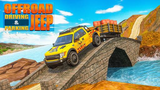 نرم افزار اندروید رانندگی جیپ آفرود 2021 - بازی اتومبیلرانی سه بعدی - Offroad Jeep Driving 2021 🚘 Car Racing Game 3D