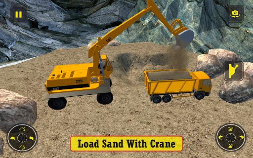 بازی اندروید راننده کامیون سنگین ساخت راه  - Construction Simulator Heavy Truck Driver