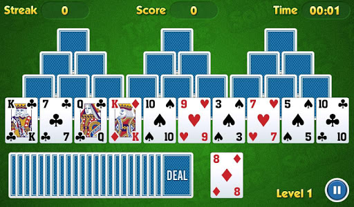 بازی اندروید کارت بازی یک نفره - TriPeaks Solitaire Challenge