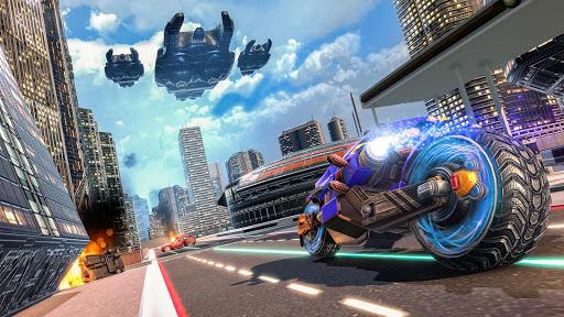 بازی اندروید پرواز موتور - ربات پلیس - Flying Robot Bike Police Robot Transformation Wars