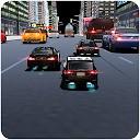 پلیس شهر مسابقه سنگین ترافیک