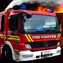 نجات با کامیون آتش نشانی