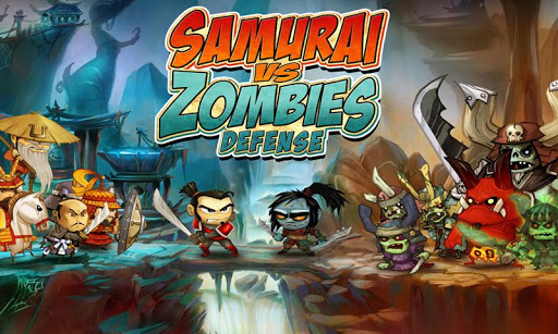 بازی اندروید سامورایی مقابل زامبی - SAMURAI vs ZOMBIES DEFENSE
