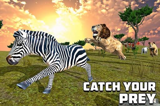 بازی اندروید قبیله شیر خشمگین - Furious Lion Family Sim