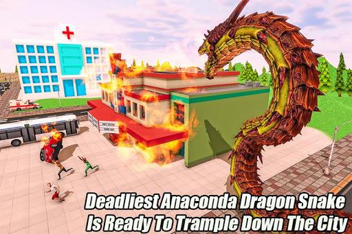 بازی اندروید مار آناکوندای خشمگین - Furious Anaconda Dragon Snake City Rampage