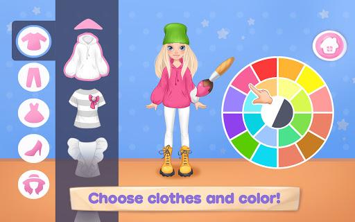 بازی اندروید بازی مد لباس برای دختران - خیاط لباس - Fashion Dress up games for girls. Sewing clothes