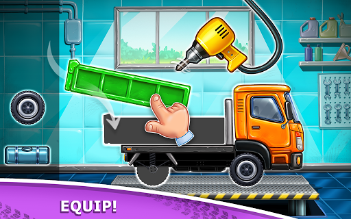 بازی اندروید بازی های کامیون برای کودکان - ساخت خانه شستشوی ماشین - Truck games for kids - build a house 🏡 car wash