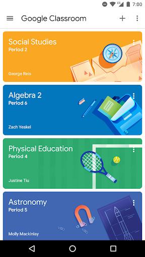 نرم افزار اندروید کلاس درس گوگل - Google Classroom
